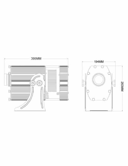 PI 300 gobo projecteur dimensions