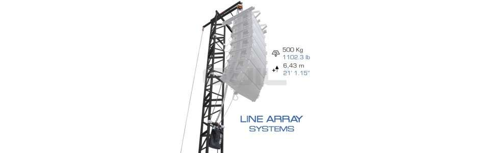 Levage Tower line array PA TOWER 01 PA TOWER 02 PA TOWER 05