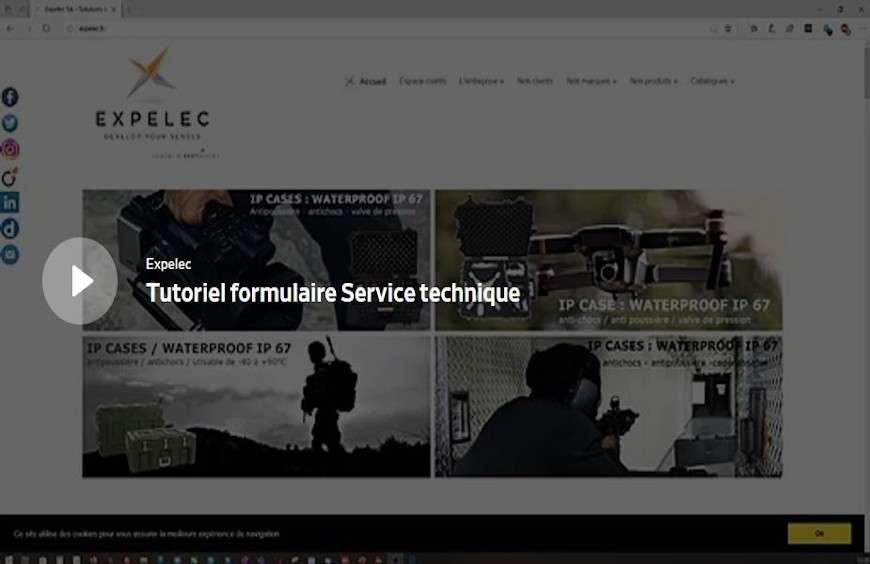 Nouvelle interface Service technique